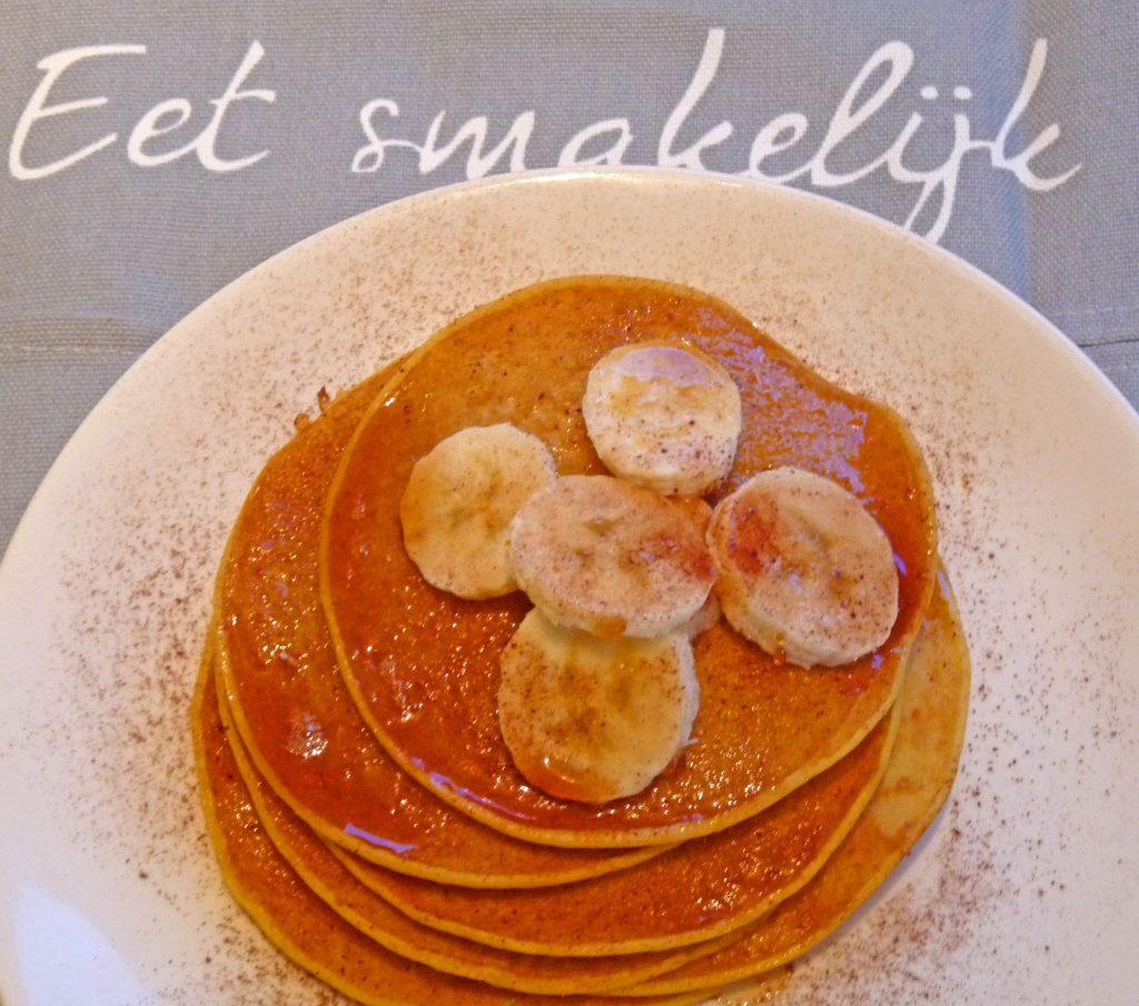 Gezonde pancakes met pompoen en banaan