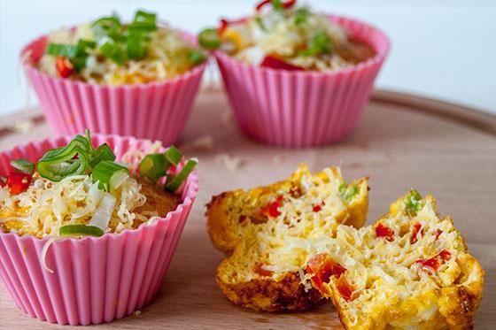 ei muffins met groente