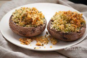 Gevulde champignon uit de oven met kaas
