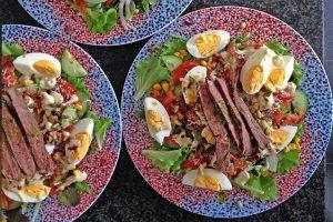 salade met entrecote