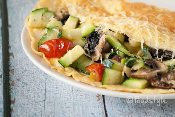 omelet met courgette